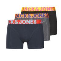 Undertøj Herre Trunks Jack & Jones JACCRAZY X3 Sort / Blå / Grå