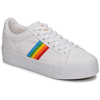 Sko Dame Lave sneakers Gola ORCHID PLATEFORM RAINBOW Hvid / Flerfarvet