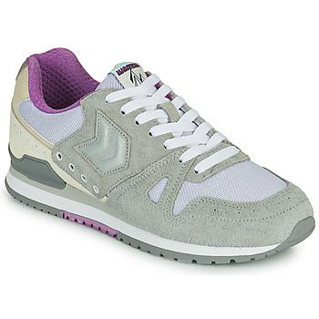Sko Dame Lave sneakers Hummel MARATHONA SUEDE Grå / Violet