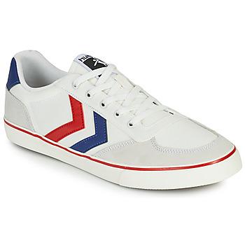 Sko Herre Lave sneakers Hummel STADIL LOW OGC 3.0 Hvid / Blå / Rød