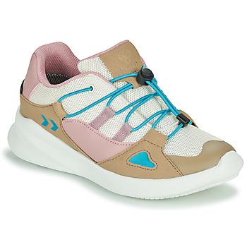 Sko Børn Lave sneakers Hummel BOUNCE RUNNER TEX JR Beige / Pink