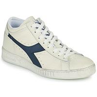 Sko Høje sneakers Diadora GAME L WAXED ROW CUT Hvid / Blå