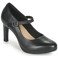 Sko Dame Højhælede sko Clarks AMBYR SHINE Sort