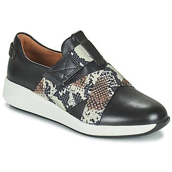 Sko Dame Lave sneakers Clarks UN RIO STRAP Sort