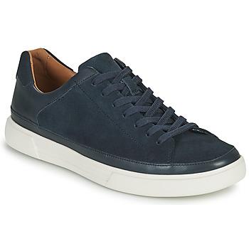 Sko Herre Lave sneakers Clarks UN COSTA TIE Blå