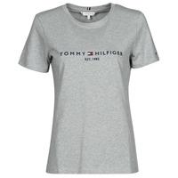 textil Dame T-shirts m. korte ærmer Tommy Hilfiger TH ESS HILFIGER C-NK REG TEE SS Grå
