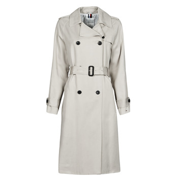 textil Dame Trenchcoats Tommy Hilfiger DB LYOCELL FLUID TRENCH Beige