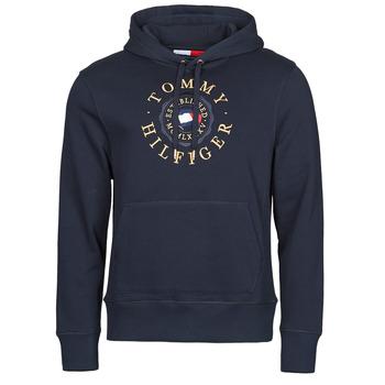 textil Herre Sweatshirts Tommy Hilfiger ICON COIN HOODY Marineblå