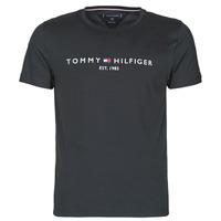 textil Herre T-shirts m. korte ærmer Tommy Hilfiger CORE TOMMY LOGO Sort