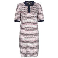 textil Dame Korte kjoler Tommy Hilfiger TH CUBE SHIFT SHORT DRESS SS Hvid / Rød / Marineblå