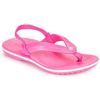 Sko Pige Klipklapper  Crocs CROCBAND STRAP FLIP K Pink