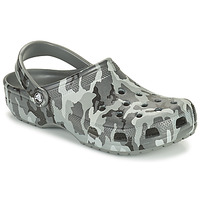 Sko Herre Træsko Crocs CLASSIC PRINTED CAMO CLOG Camouflage / Grå