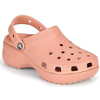 Sko Dame Træsko Crocs CLASSIC PLATFORM CLOG W Pink