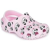 Sko Pige Træsko Crocs CLASSIC PANDA PRINT CLOG K Pink / Panda