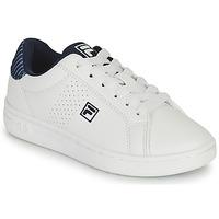 Sko Dreng Lave sneakers Fila CROSSCOURT 2 NT KIDS Hvid / Blå