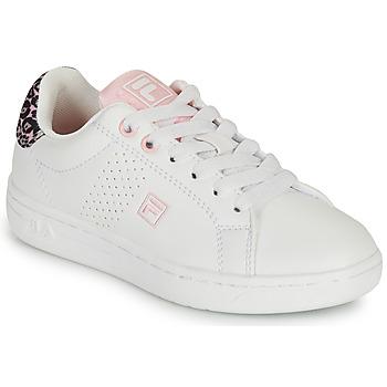 Sko Pige Lave sneakers Fila CROSSCOURT 2 NT KIDS Hvid / Pink