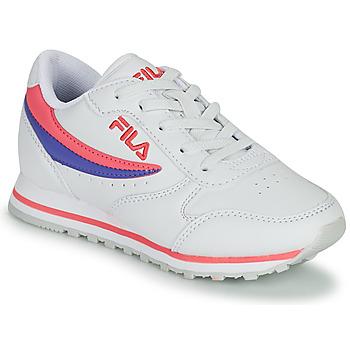 Sko Pige Lave sneakers Fila ORBIT LOW KIDS Hvid / Pink