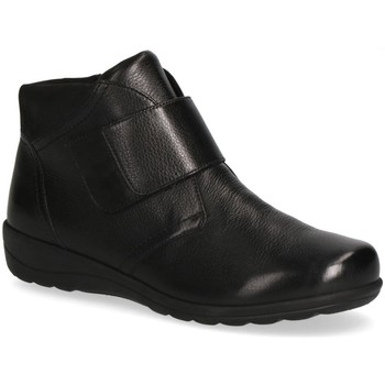 Sko Dame Høje støvletter Caprice Booties Flats Black Sort