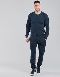 textil Herre Træningsdragter Emporio Armani STRETCH TERRY Marineblå