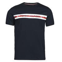 textil Herre T-shirts m. korte ærmer Tommy Hilfiger CN SS TEE LOGO Marineblå