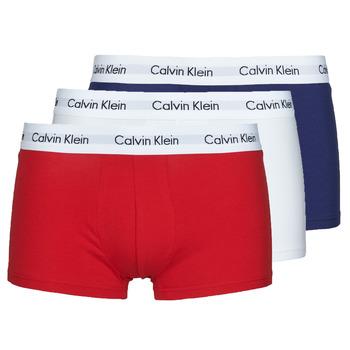 Undertøj Herre Trunks Calvin Klein Jeans RISE TRUNK X3 Marineblå / Hvid / Rød