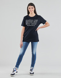 textil Dame Jeans - skinny Replay HYPERFLEX LUZ Blå / Medium