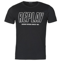 textil Herre T-shirts m. korte ærmer Replay M3395-2660 Sort