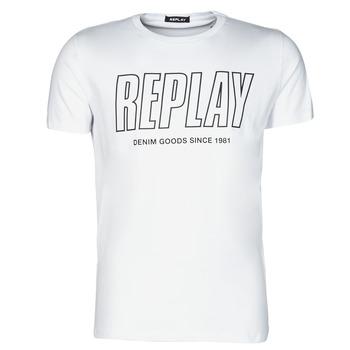 textil Herre T-shirts m. korte ærmer Replay M3395-2660 Hvid