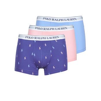 Undertøj Herre Trunks Polo Ralph Lauren CLASSIC TRUNK X3 Pink / Blå / Marineblå