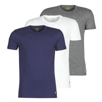textil Herre T-shirts m. korte ærmer Polo Ralph Lauren SS CREW NECK X3 Marineblå / Grå / Hvid