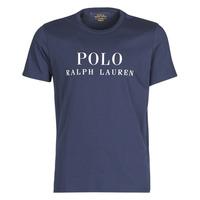 textil Herre T-shirts m. korte ærmer Polo Ralph Lauren SS CREW Marineblå