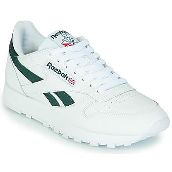 Sko Lave sneakers Reebok Classic CL LTHR Hvid / Grøn