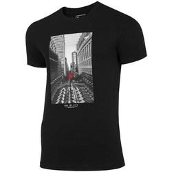 textil Herre T-shirts m. korte ærmer 4F TSM020 Sort