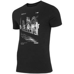 textil Herre T-shirts m. korte ærmer 4F TSM025 Sort