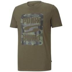 textil Herre T-shirts m. korte ærmer Puma Rebel Camo Graphic Tee Grøn