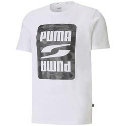 textil Herre T-shirts m. korte ærmer Puma Rebel Camo Graphic Tee Hvid