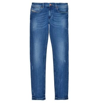 textil Dreng Jeans - skinny Diesel SLEENKER Blå