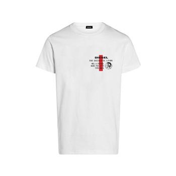 textil Dreng T-shirts m. korte ærmer Diesel TDIEGOS Hvid