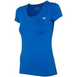 textil Dame T-shirts m. korte ærmer 4F TSDF002 Blå