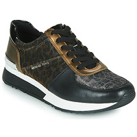 Sko Dame Lave sneakers MICHAEL Michael Kors ALLIE Sort / Panter / Bronze