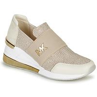 Sko Dame Lave sneakers MICHAEL Michael Kors FELIX TRAINER EXTREME Champagne