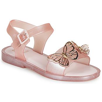 Sko Pige Sandaler Melissa MEL MAR SANDAL FLY Pink / Gylden