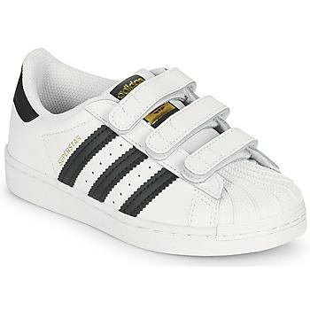 Sko Børn Lave sneakers adidas Originals SUPERSTAR CF C Hvid / Sort
