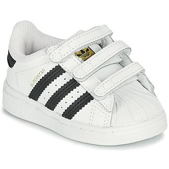 Sko Børn Lave sneakers adidas Originals SUPERSTAR CF I Hvid / Sort