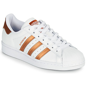 Sko Dame Lave sneakers adidas Originals SUPERSTAR W Hvid / Bronze