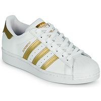 Sko Dame Lave sneakers adidas Originals SUPERSTAR W Hvid / Guld