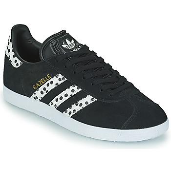 Sko Dame Lave sneakers adidas Originals GAZELLE W Sort / Hvid