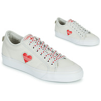 Sko Dame Lave sneakers adidas Originals NIZZA  TREFOIL W Hvid / Rød