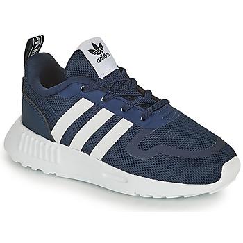 Sko Børn Lave sneakers adidas Originals SMOOTH RUNNER EL I Marineblå / Hvid