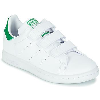 Sko Børn Lave sneakers adidas Originals STAN SMITH CF C SUSTAINABLE Hvid / Grøn / Vegan
